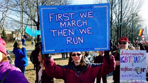 First We March, Then We Run