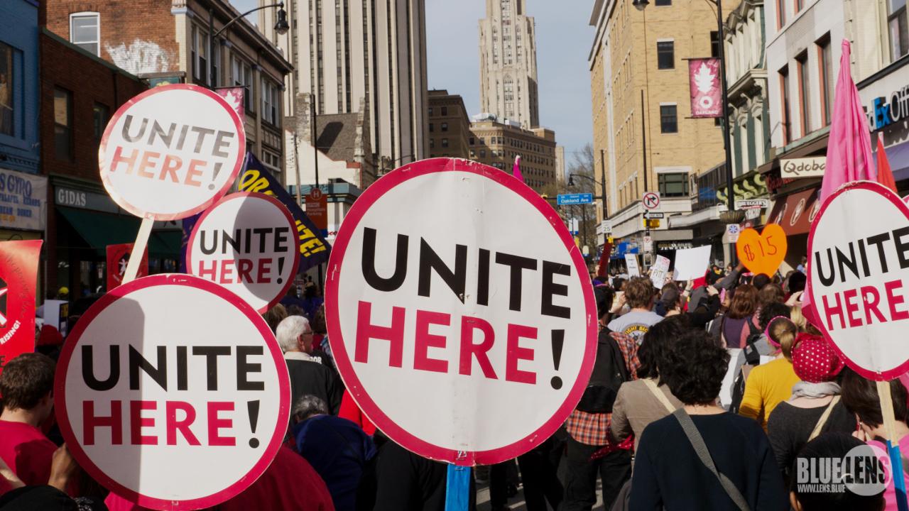 Unite Here Protest